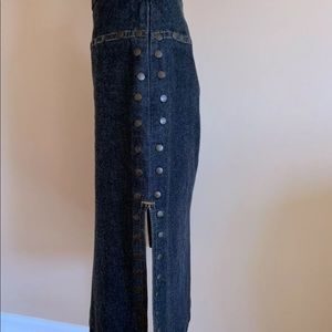 Denim Studded Skirt
